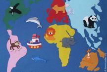 Maps / Children's world maps
