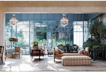 Conservatory Chic / When inside is as good as outside, and outside is happy to be inside