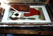 Dipinti, cornici, sculture / Immagini di interventi eseguiti du cornici, dipinti e sculture.