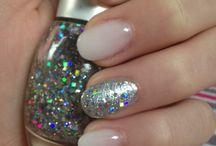 Silvester Nails / Gelnails Natural Glitter Silber