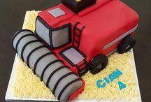 combine harvester cakes