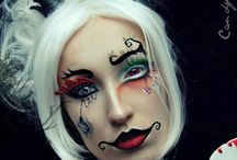 Tim burton inspired makeup