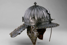 Zischägge helmets (Only historically accurate) / Early modern period (1492 – 1750) European helmets of the type zischägge, also known as lobster tail burgonet. It is developed from the burgonet. Later evolution was the spider helmet.