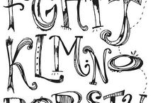 Caligrafia e tipografia