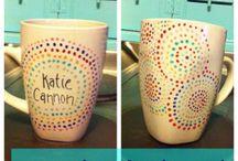 Plate and mug art