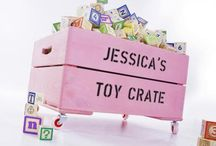 Kid's Personalised Toy Storage Crates / If tripping over the kid's toys is a daily occurrence then our personalised kids toy box is the solution you've been looking for! Our toy boxes provide an attractive storage solution and encourage youngsters to pack away their toys and books.