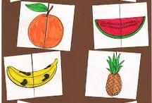 Frutas rompecabezas