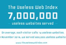 The Useless Web Index / Info about https://www.theuselesswebindex.com/