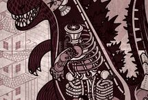 Domo Arigato Mr Roboto / Robots, Machines, Future Technology, Illustration