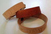 Leather Message Bracelets / Make a statement at your next event.
