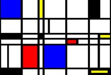Modern Vibe Series / Abstract designs influenced by the Modern Art movement. These designs explore minimalism and contemporary non representational Modern Art a la Piet Mondrian. / by Roz Abellera Art