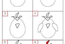 šablona kuřátka