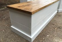 Blanket boxes / Blanket boxes in oak, Pine and Painted woods. All bespoke and made for each customer