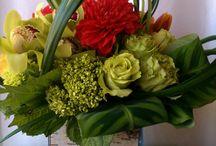 Flower arrangements with grasses