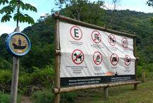 Placas de Praias / Placas de praias que visitamos com a Ecotent.