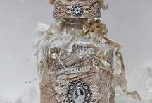 Bocaux, bouteilles décorés
