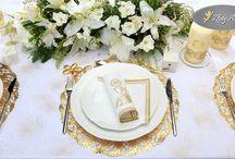 Dekoracja stołu komunijnego