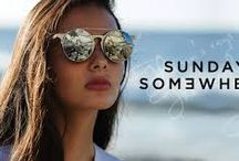 """SUNGLASSES SUNDAY SOMEWHERE / L'estetica di Sunday Somewhere è influenzata sia dal passato sia dal futuro. Con un richiamo a montature classiche vintage, rifiniture moderne e complesse e materiali futuristici, il risultato finale è, praticamente, una modernità da indossare. Questa collezione """"classica con variazione"""" rende il marchio Sunday Somewhere nuovo, desiderabile, senza tempo. http://www.occhialifacili.com/brand/sunday-somewhere/"""