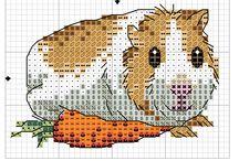 Cross stitch - guinea pigs, hamsters, chinchillas