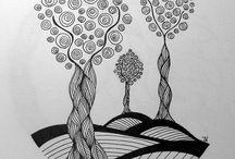 Zentangle træer