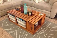 Soffbord trälådor