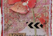 Wyzwanie ATC mediowe i warstwowe z Bee Scrap | Challenge: Mixed Media ATC with layers with Bee Scrap