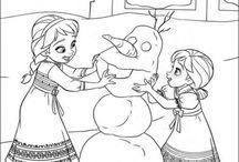 frozen coloring
