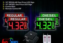 "18"" Gas Price LED Signs"