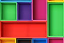 mur boîte couleurs