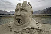 Art sand and ice