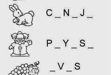 tarjetas de vocales y números
