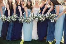 Pale blue, navy & silver wedding