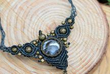 macrame necklaces / macrame,handmade,necklace,bracelet,fashion,bohemian,boho