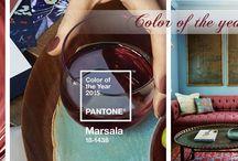 Marsala - color of the year 2015 / Marsala – culoarea, care contine tonuri de bordo-rosu si maro. Fiind combinate acestea creaza un acord cald de culoare cu tenta foarte eleganta. Nu este surprinzator ca nuanta vinului este apreciata in egala masura de persoanele in varsta dar si de generatiile mai tinere.