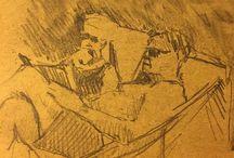my work Sun #Loire #sketch #pencil #sketchbook #summer #drawing