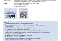 SAT Practice Tests / SAT Practice Tests by AhMath: http://tutoring.ahmath.com/sat_tutoring.php