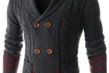 hirka / men knit cardigan sweater