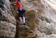Rock climbing / Rock climbing on beautifull marble stone