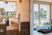 indoor combined sauna - modern style