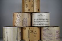Vintage shades / Book pages/sheet music