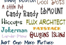 Fonts, Fonts, and More Fonts!! / by Candy Gill-Knickerbocker