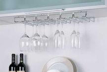 under cabinet stemware holder