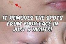 brown face spot