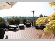Elite Outdoor Living / Elite Outdoor Living created using composite decking and Elite Cable Balustrade. Low maintenance recycled wood / plastic decking. No need to stain or treat the decking board. Mold and splinter free.