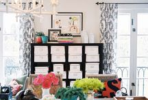step into my office.  / great design and organization at its finest.  / by Rebecca Oleksa