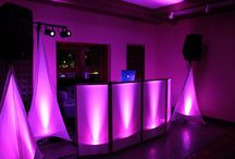 D.J. Set Up / Don't get caught with a 6 ft table, dirty linen, and wires hanging everywhere. At Verducci Event Productions, we believe in a beautiful, sleek, wire-free look for all of our DJs. Check it out!