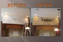 Bricks - Faux Painting & Mural Painting / Fake bricks faux painted to look real and mural paintings of bricks.