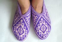 Knitting slippers