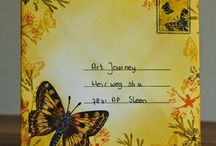 Mail Art / Decorated Stationary and envelopes