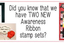 Awareness Ribbon #3 Stamp Set / Creations using the Awareness Ribbon #3 Stamp Set by A Creative Journey with Melissa